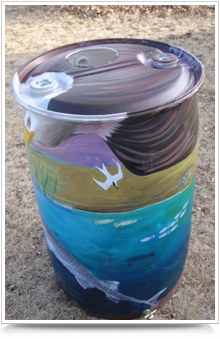 Photo of Painted Rain Barrell